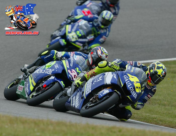 Valentino Rossi on his way to victory at Assen in 2005