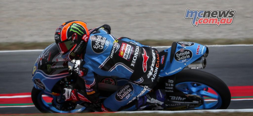 Aron Canet (SPA), despite a crash, still on top on day one in Moto3 at Catalunya