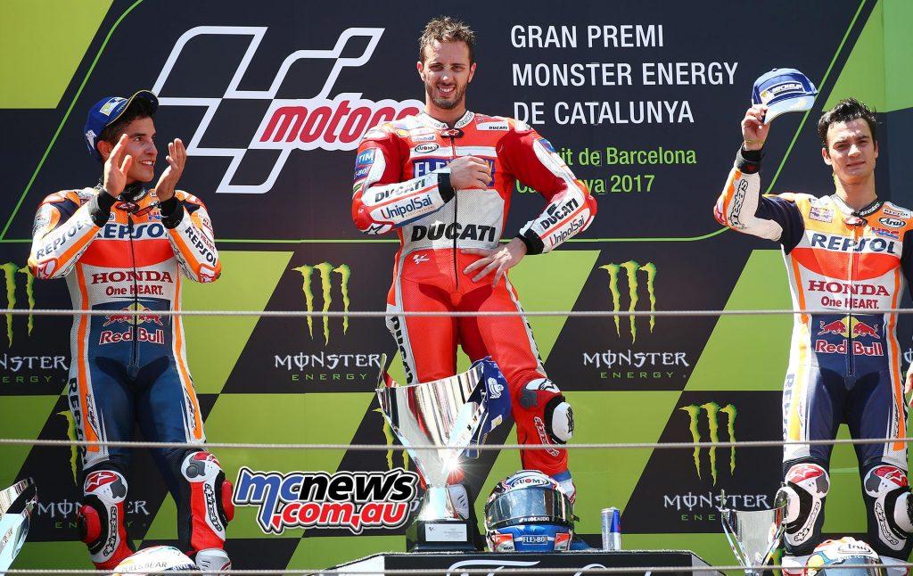 The Catalunya podium