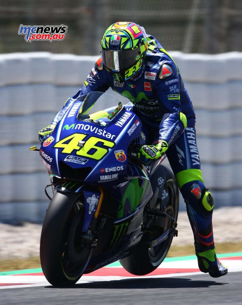 Rossi struggled at Catalunya, only managing 13th in qualifying