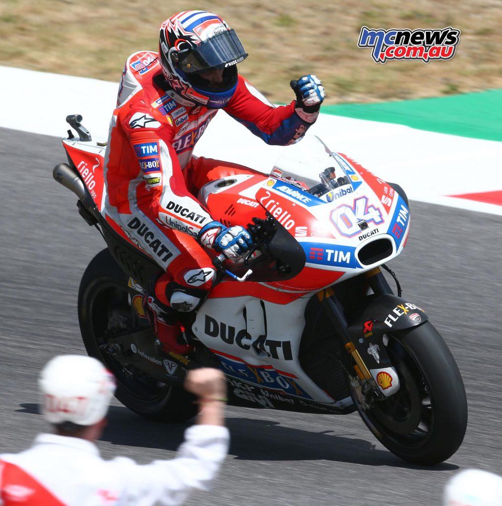Andrea Dovizioso victorious at Mugello