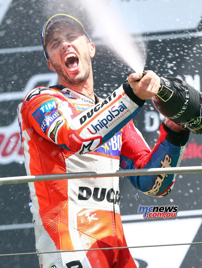 Andrea Dovizioso took the win at Mugello in 2017 - Image by AJRN