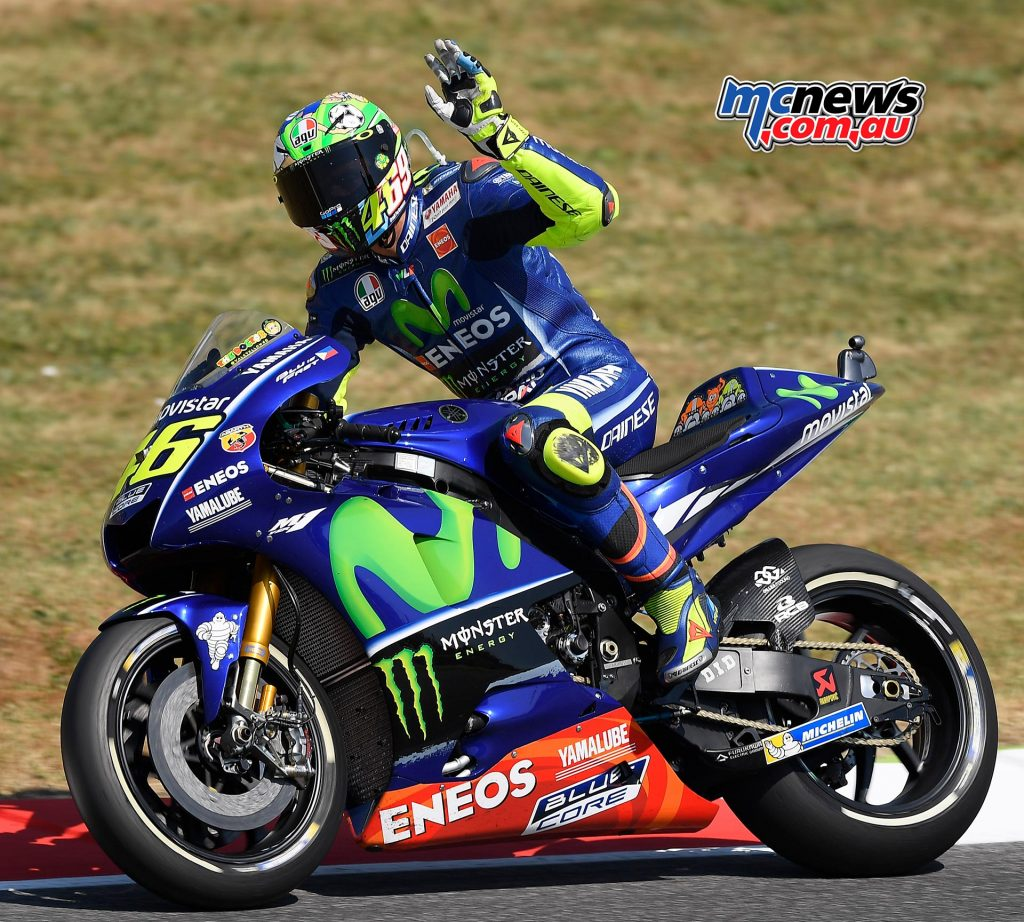 Valentino Rossi sits just 10 points off the lead after Round 9