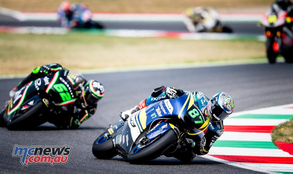 Remy Gardner #87 was in the mix at Mugello