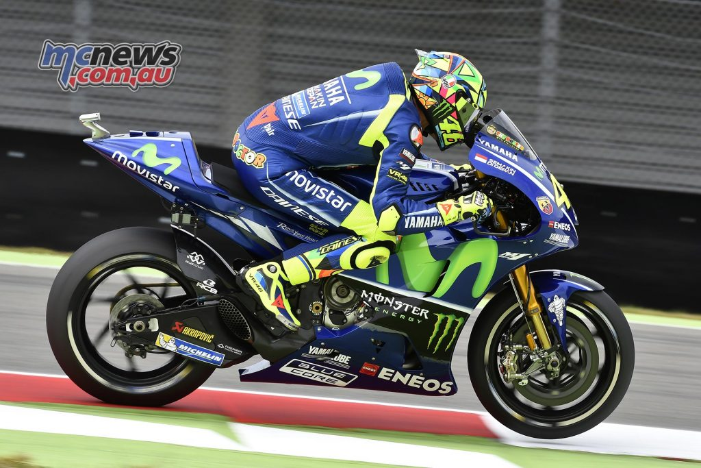 Valentino Rossi will lead the second row