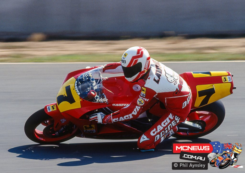 Eddie Lawson and the Cagiva C591