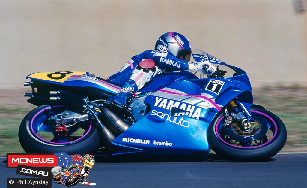 Jean-Philippe Ruggia on a Yamaha YZR500