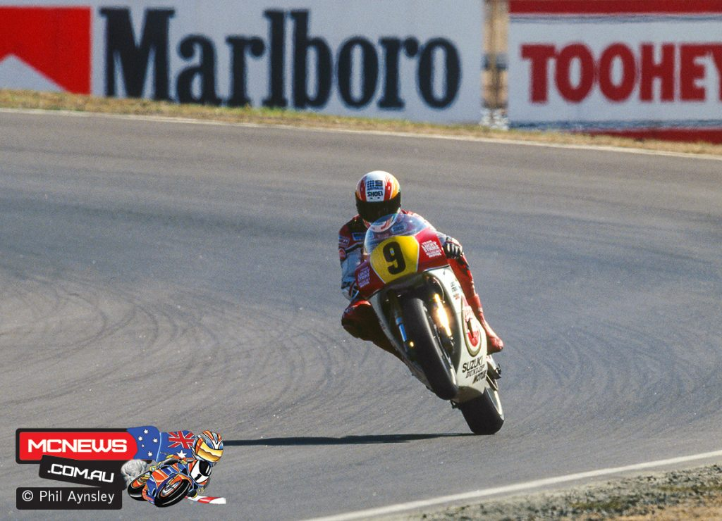 Kevin Magee on the Suzuki RGV500.