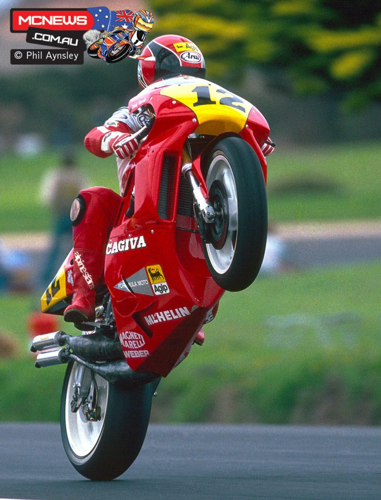 Randy Mamola - Phillip Island 1989 - Cagiva - Image by Phil Aynsley