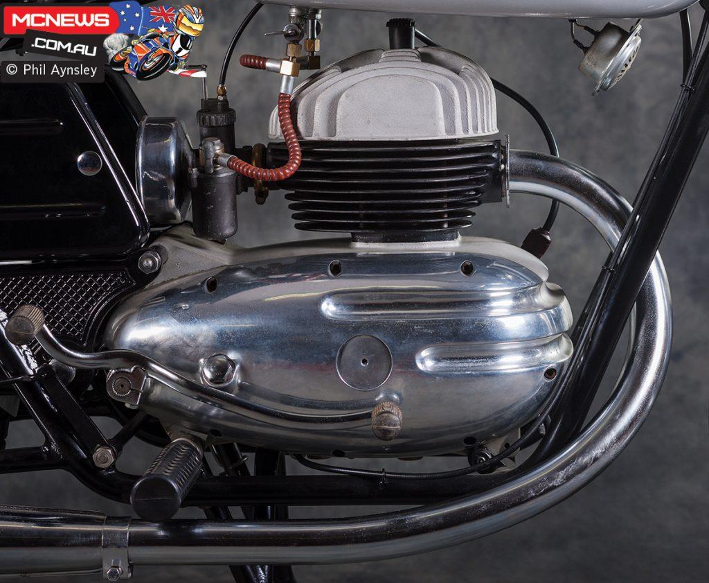 160cc two-stroke powerplant
