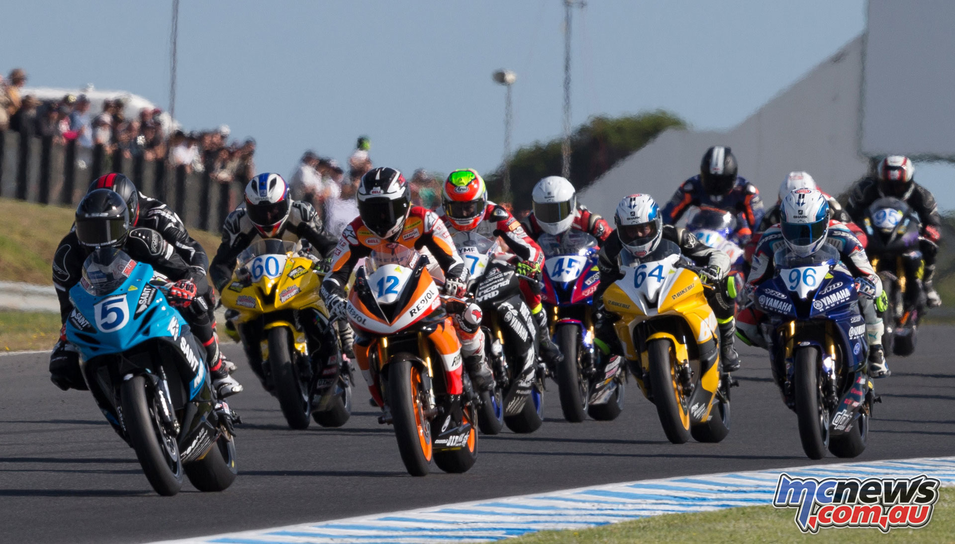 Supersport at the Phillip Island Championship Round 1 - Image by TBG Photography