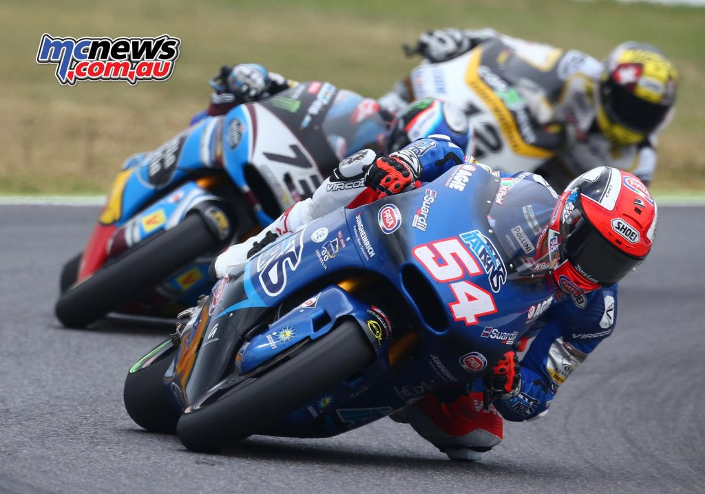 Tom Luthi and Alex Marquez chase Mattia Pasini at Mugello - Image by AJRN