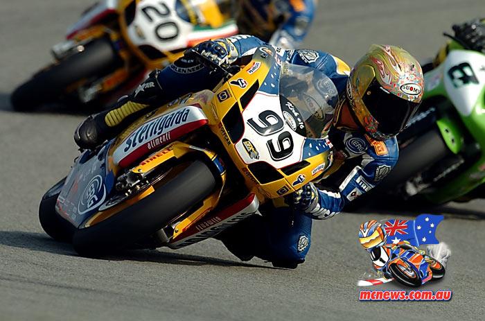 Steve Martin on the Sterilgarda Ducati 999 in 2004