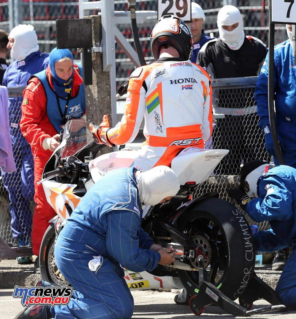 Conor Cummins mechanics struggled during the pit stop