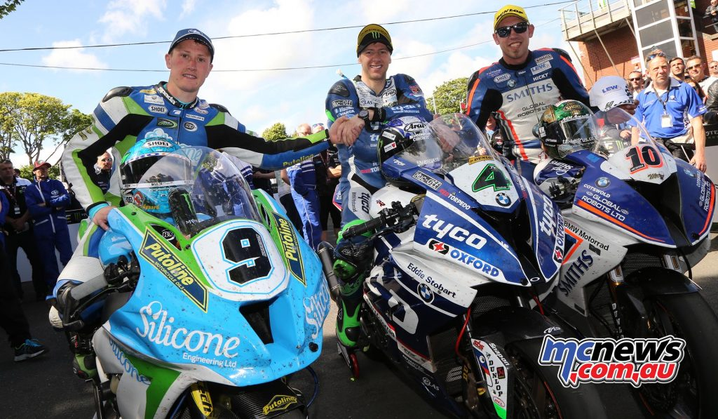Dean Harrison 3rd (Closest), Ian Hutchins 1st (Middle) and Peter Hickman 2nd (right)