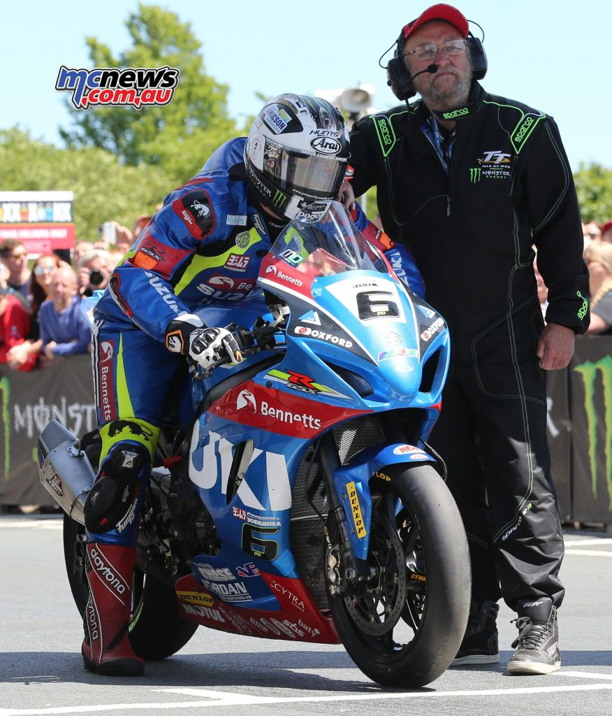 Michael Dunlop set a 131.135mph lap from standing start before gremlins strike the Suzuki