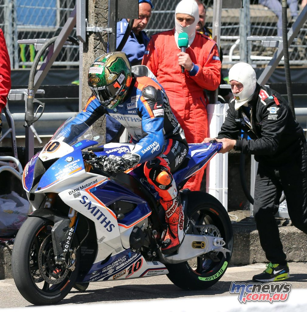Peter Hickman in the pits