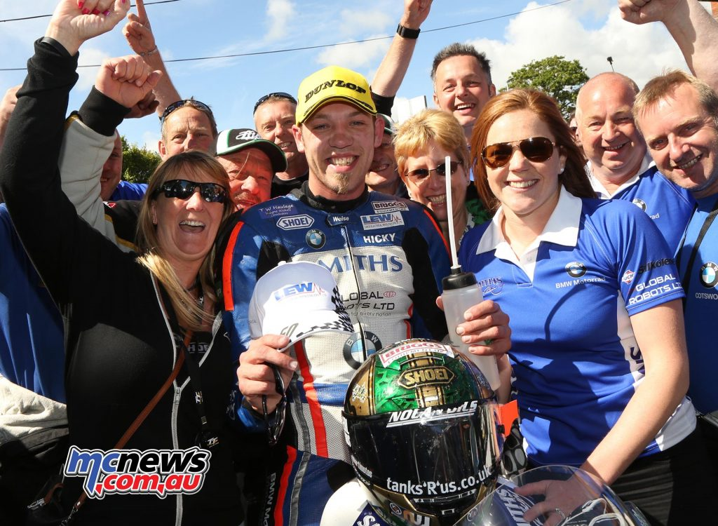 30-year-old Peter Hickman was delighted with his first ever TT podium