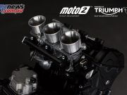 A number of revisions and improvements have been made over the road going Street Triple 765 RS powerplant and are listed above