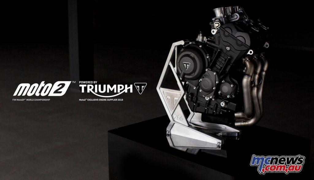 Triumph's 765cc triple-cylinder Moto2 powerplant