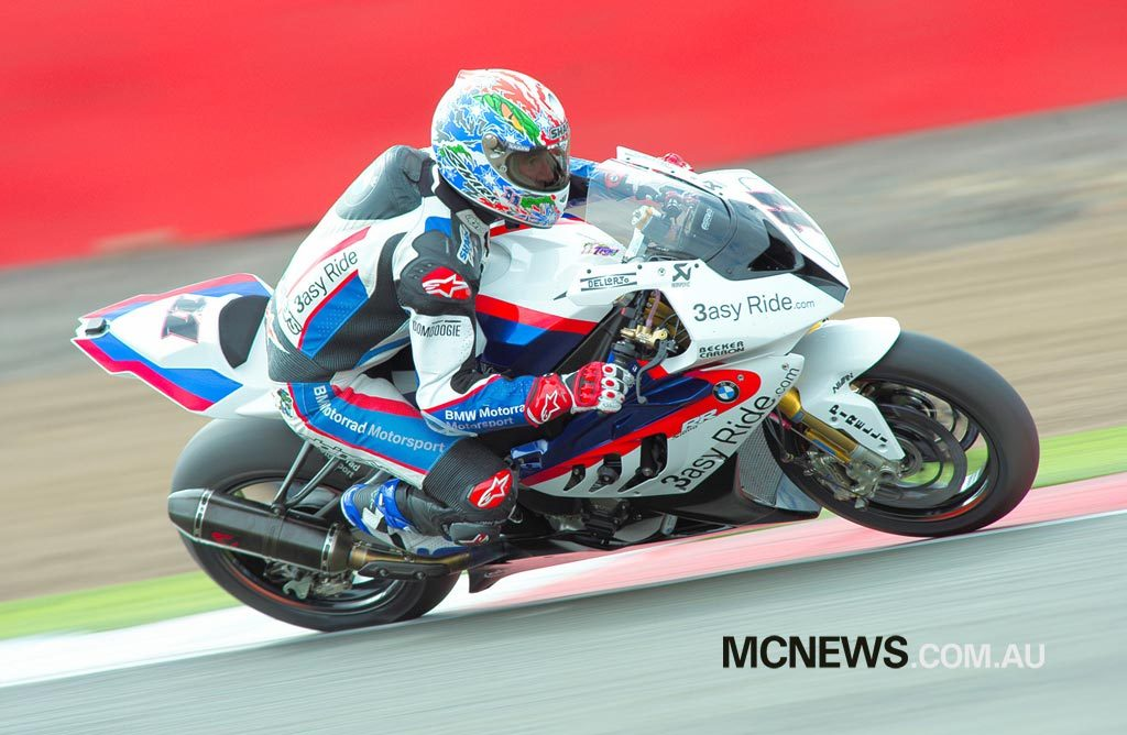Troy Corser took BMW's first pole position at Misano in 2010