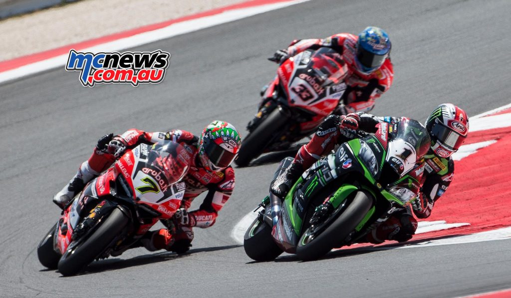 Jonathan Rea's championship lead trimmed back to 46-points