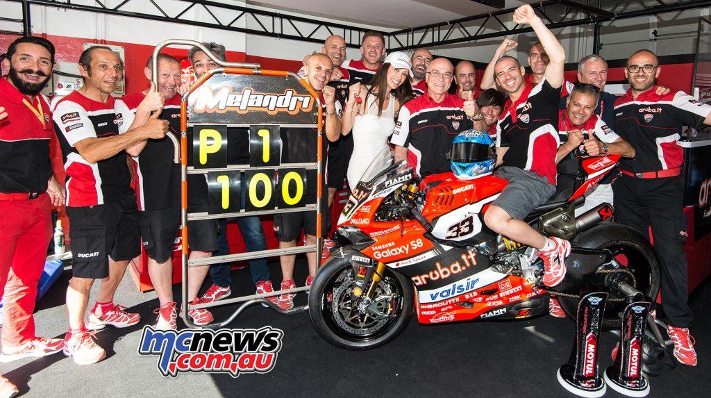 Marco Melandri takes 100th Italian victory at Misano