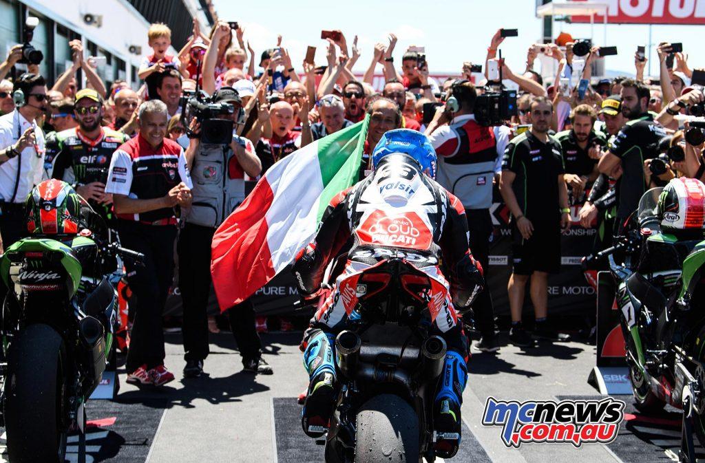 Marvelous Melandri takes 100th Italian victory at Misano