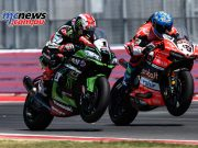 Marco Melandri beat Jonathan Rea to the line at Misano
