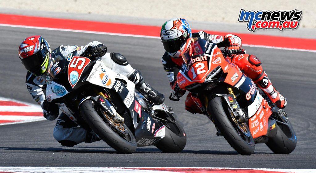 Marco Faccani (Althea BMW Racing Team) just beat Michael Rinaldi (Aruba.it Racing - Junior Team) to the line