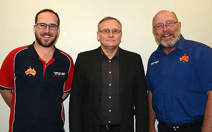 YASSI contracted Getabout trainers Carl Eggenhuizen (left), and John Eggenhuizen (right) with YMA's MC Divisional Manager Manager Denis Roberts