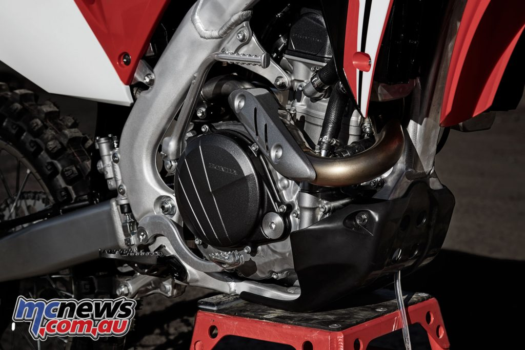The 2017 CRF450R offers 11% more power than the outgoing model