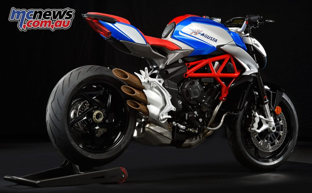 The Brutale 800's iconic styling with the original America's theme re-imagined