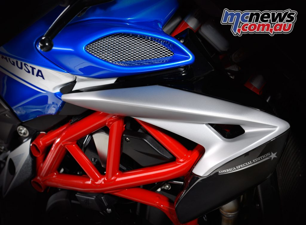 2017 MV Agusta Brutale 800 America SE - With America Special Edition on the radiator guards