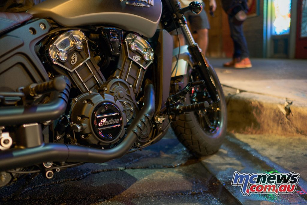 The Scout Bobber's 1133cc DOHC 60-degree V-Twin