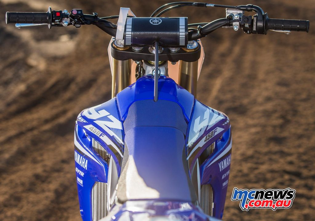 2018 Yamaha YZ450F cockpit offers more room to move than before