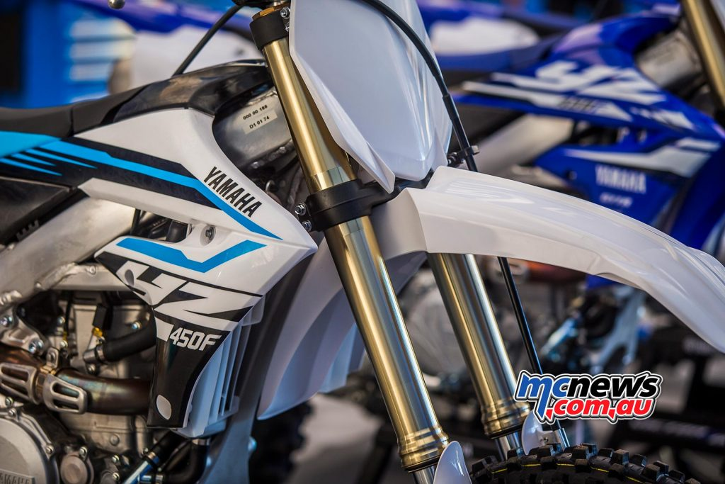 2018 Yamaha YZ450F also available in white