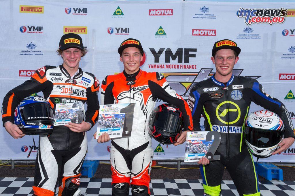Supersport Over-300cc Podium