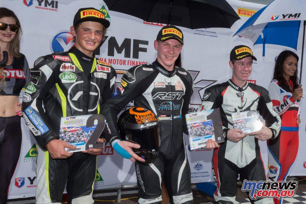 Supersport Round Winners Podium
