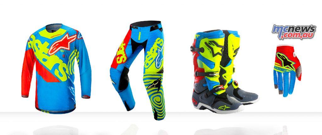 Alpinestars LE Union jersey, pants, Tech 10 boots and Radar Flight gloves