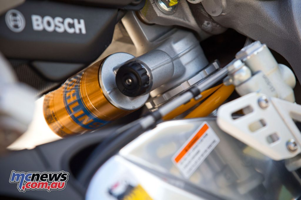Ohlins fully adjustable rear shock with 130mm travel