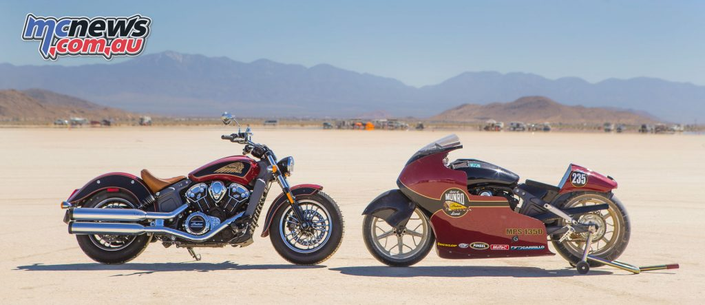 Indian set three new landspeed records during preparation for the Burt Munro 50th anniversary commemorative run