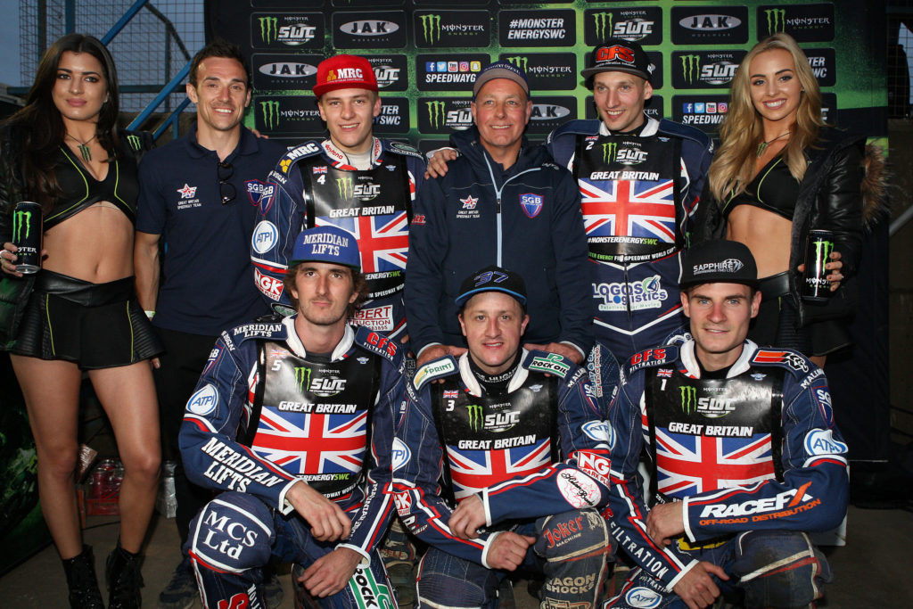 Craig Cook and the Great British Speedway team