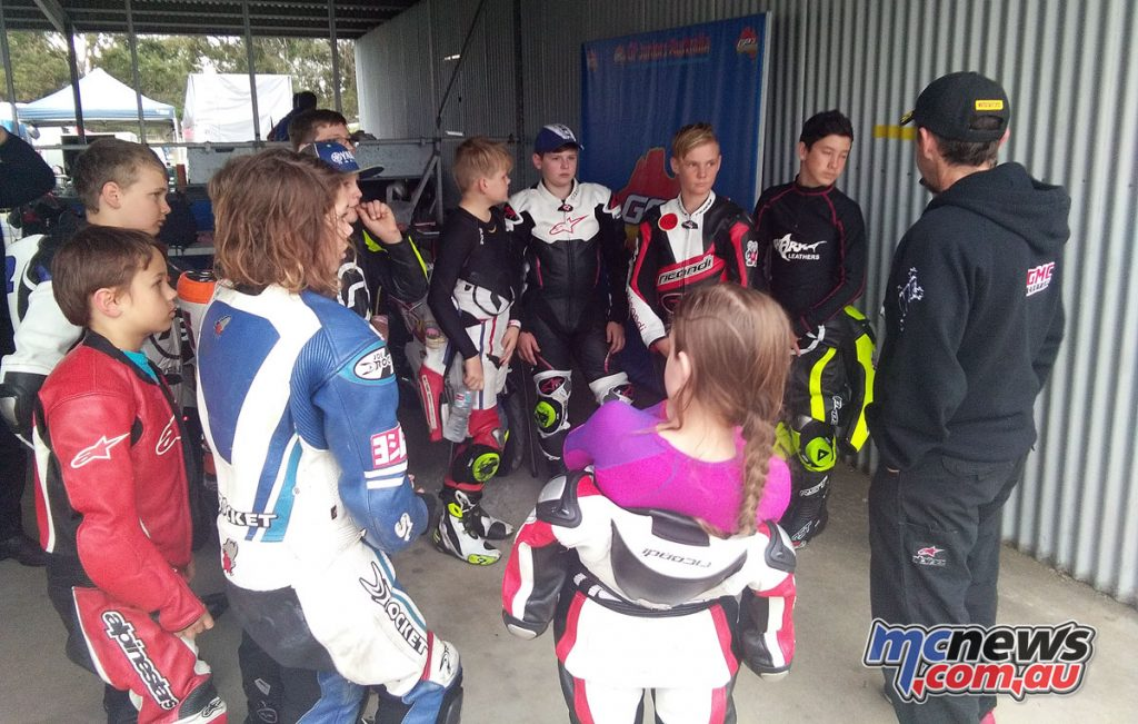 There was plenty of excitement among the GP Juniors group for the Morgan Park Raceway training sessions, despite it promising to be two busy days
