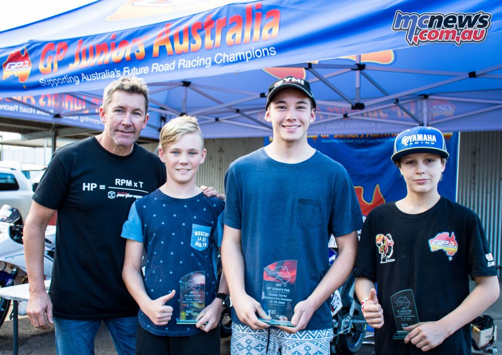 GP Juniors trophy presentation with Troy Bayliss