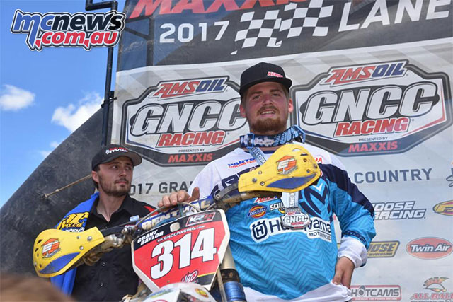 Grant Baylor wins the Penton GNCC Round