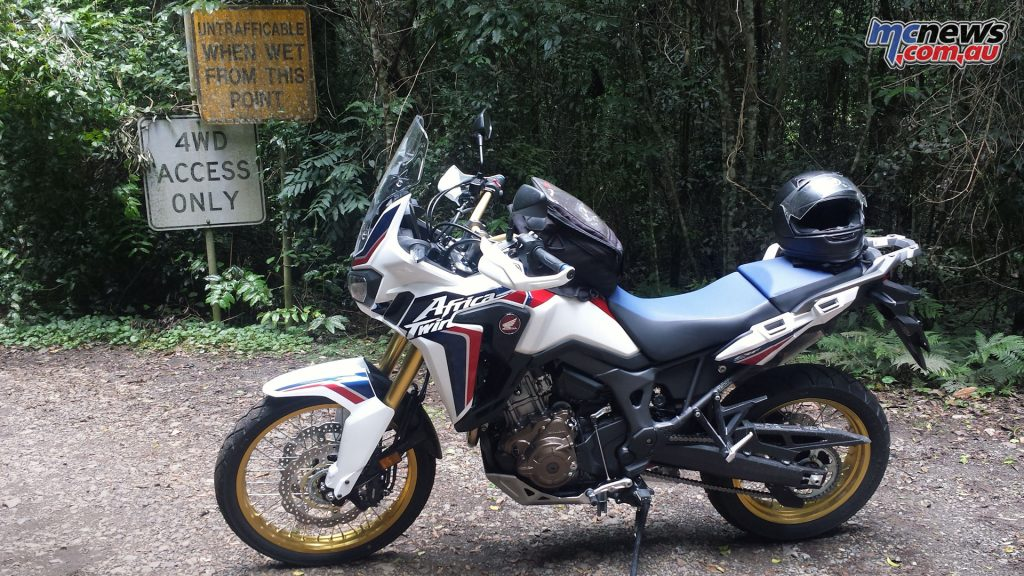 Despite a modest 95hp the Africa Twin is well capable of handling anything thrown at it, including 4x4 routes on standard tyres