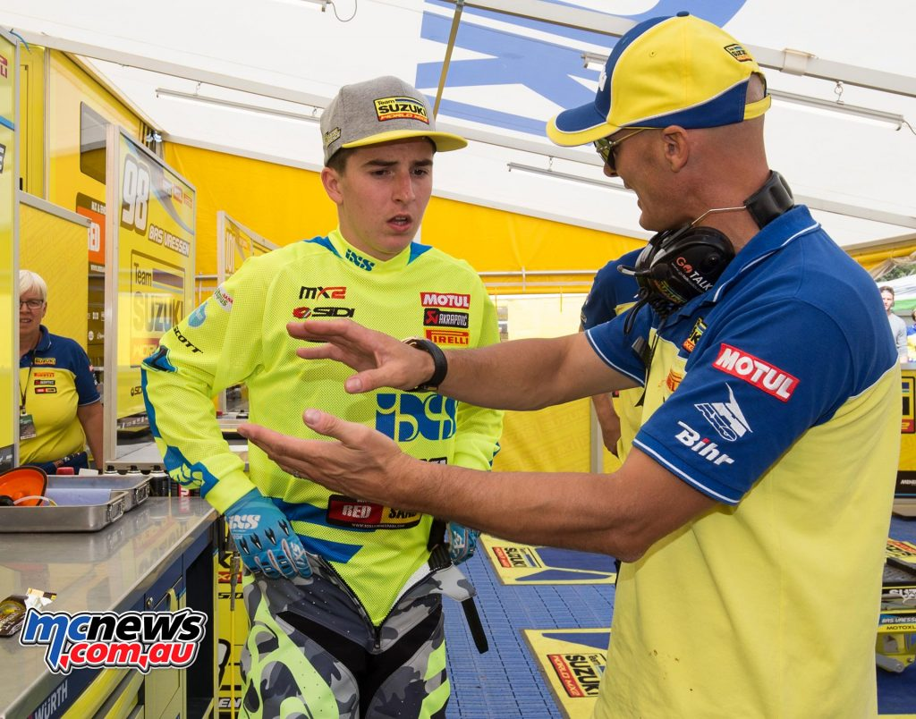 Hunter Lawrence with Stefan Everts at Loket