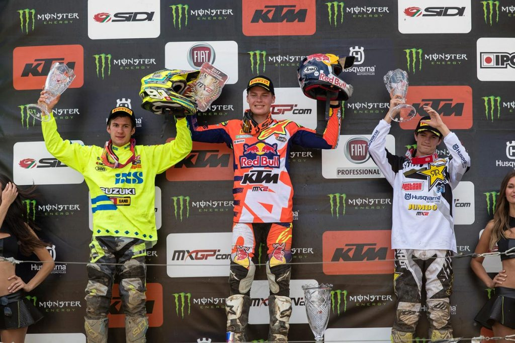 MX2 Overall Top Ten Pauls Jonass (LAT, KTM), 47 points Jeremy Seewer (SUI, SUZ), 38 p. Thomas Covington (USA, HUS), 36 p.