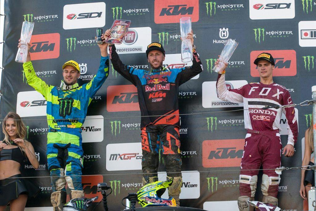 MXGP Overall Top Ten Antonio Cairoli (ITA, KTM), 45 points Clement Desalle (BEL, KAW), 44 p. Tim Gajser (SLO, HON), 43 p.